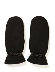 Girly felt mitten w bow - Blacks