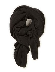 Soft small stripe scarf - Blacks