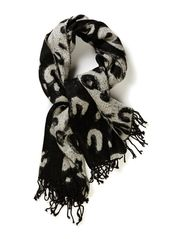 Oversize aninal printed scarf - Blacks