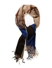 Fading colour blocks scarf - Blues