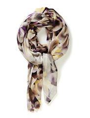 Digital kaleidoscope scarf - Browns
