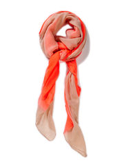 Scarf with dip dye - Coral