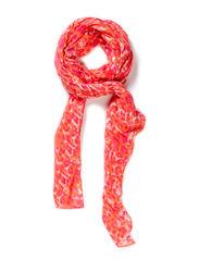 Foil leopard scarf - Coral