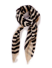 Scarf w stribe - Black