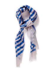Scarf w stribe - Blue