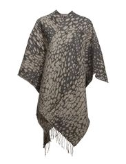 Animal printed cape - Blacks