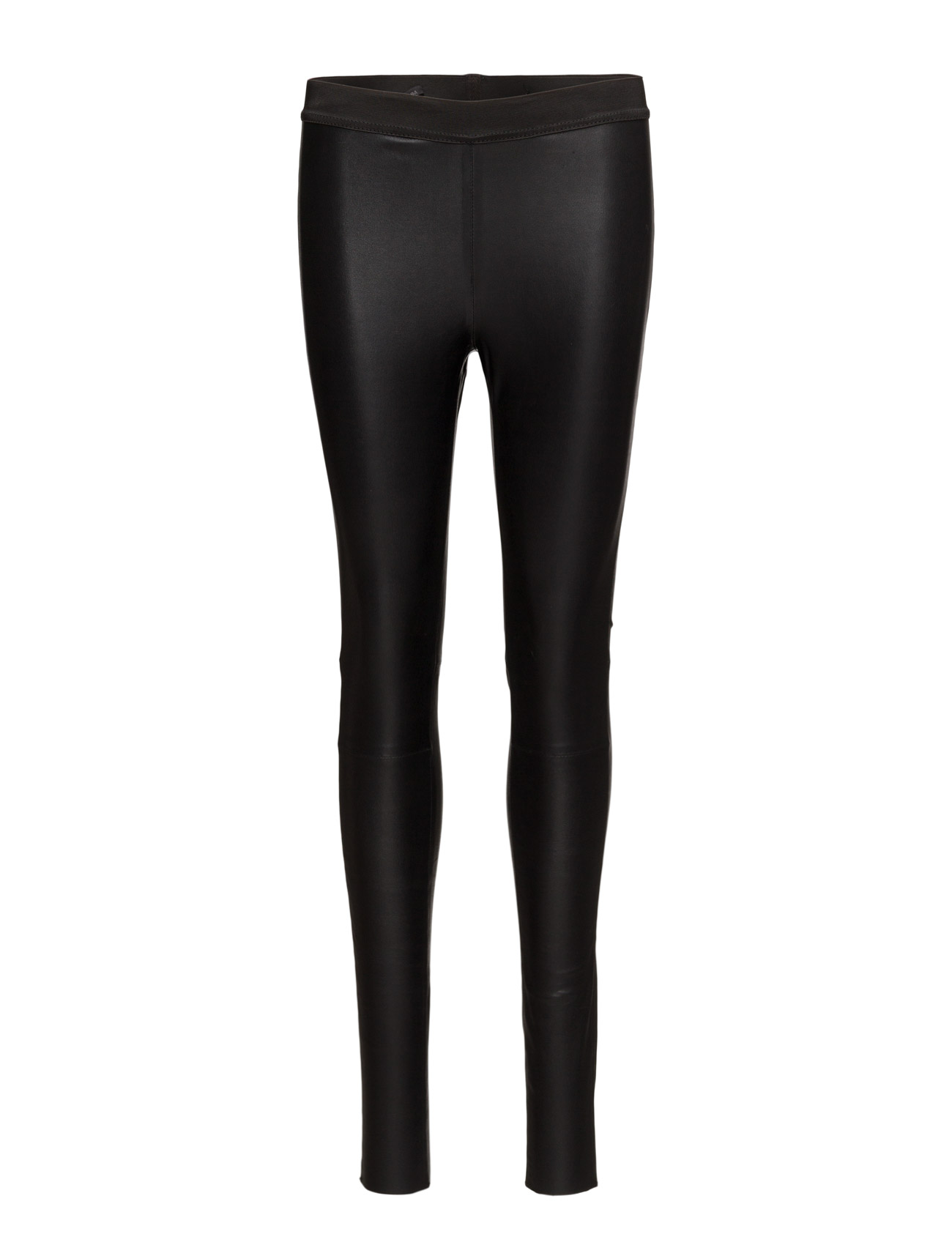 Leather Stretch Leggings (Black) thumbnail