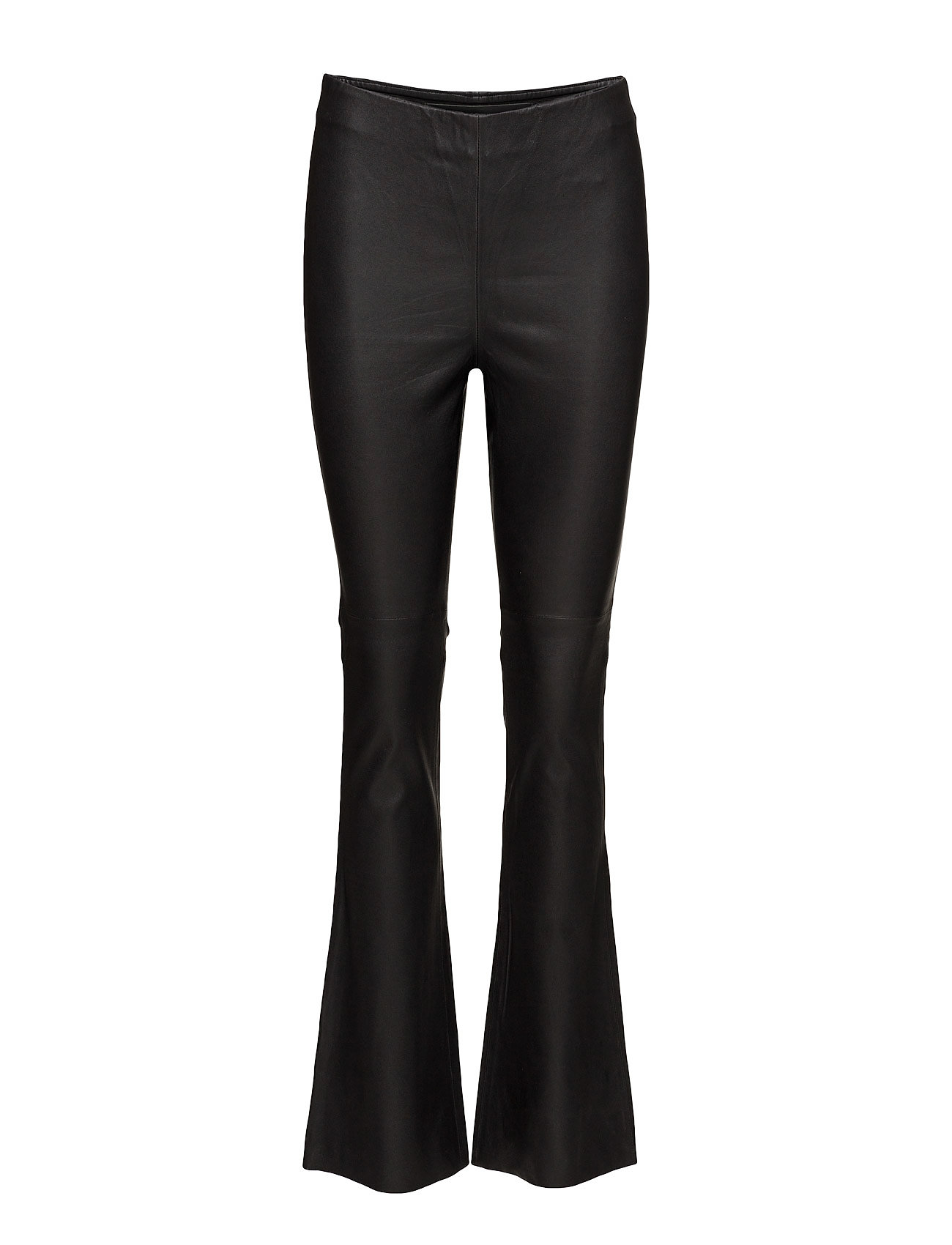 Flare Leather Trousers MDK / Munderingskompagniet  til Damer i Sort