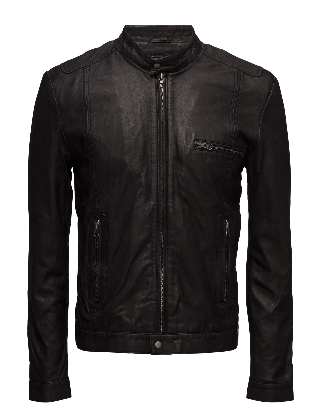 Karl Leather Jacket (Black) MDK / Munderingskompagniet Jakker til Herrer i Sort