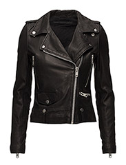 Seattle Leather Jacket - BLACK
