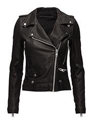 Seattle Leather Jacket - BLACK