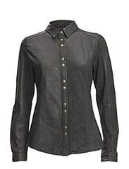 Mathina Leather Shirt - black
