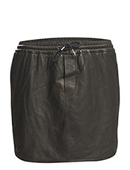 Sugar Vegetal Leather Skirt - black