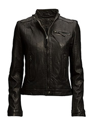 Karla Leather Jacket - BLACK