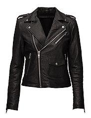 Winter bubble biker jacket (black) - BLACK