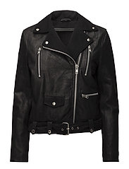 Winter biker oversize jacket (black) - BLACK