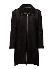 Winter long jacket (black) - BLACK