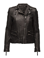 Rosa Leather Jacket - black