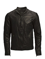 Kasper leather jacket (black) - BLACK