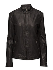 Pede leather jacket (black) - BLACK