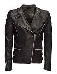 Billy leather jacket (black) - BLACK
