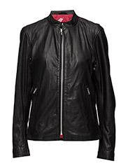 Bono racing leather jacket (black) - BLACK