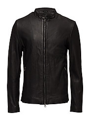 Osaka leather jacket - BLACK