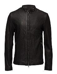 Osaka leather jacket - BLACK