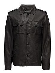 Felix leather jacket (black) - BLACK