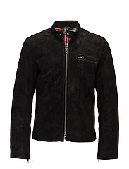 Bsa cow suede jacket - BLACK
