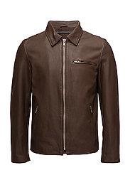 Paris cow jacket - DARK BROWN