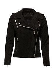 Viola suede jacket - SUEDE BLACK