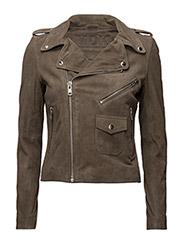 Patti suede jacket (grey) - GREY