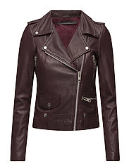 Seattle leather jacket (bordeaux) - BORDEAUX