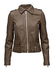 San francisco leather jacket - MUSTARD