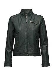 Karla leather jacket - GREEN