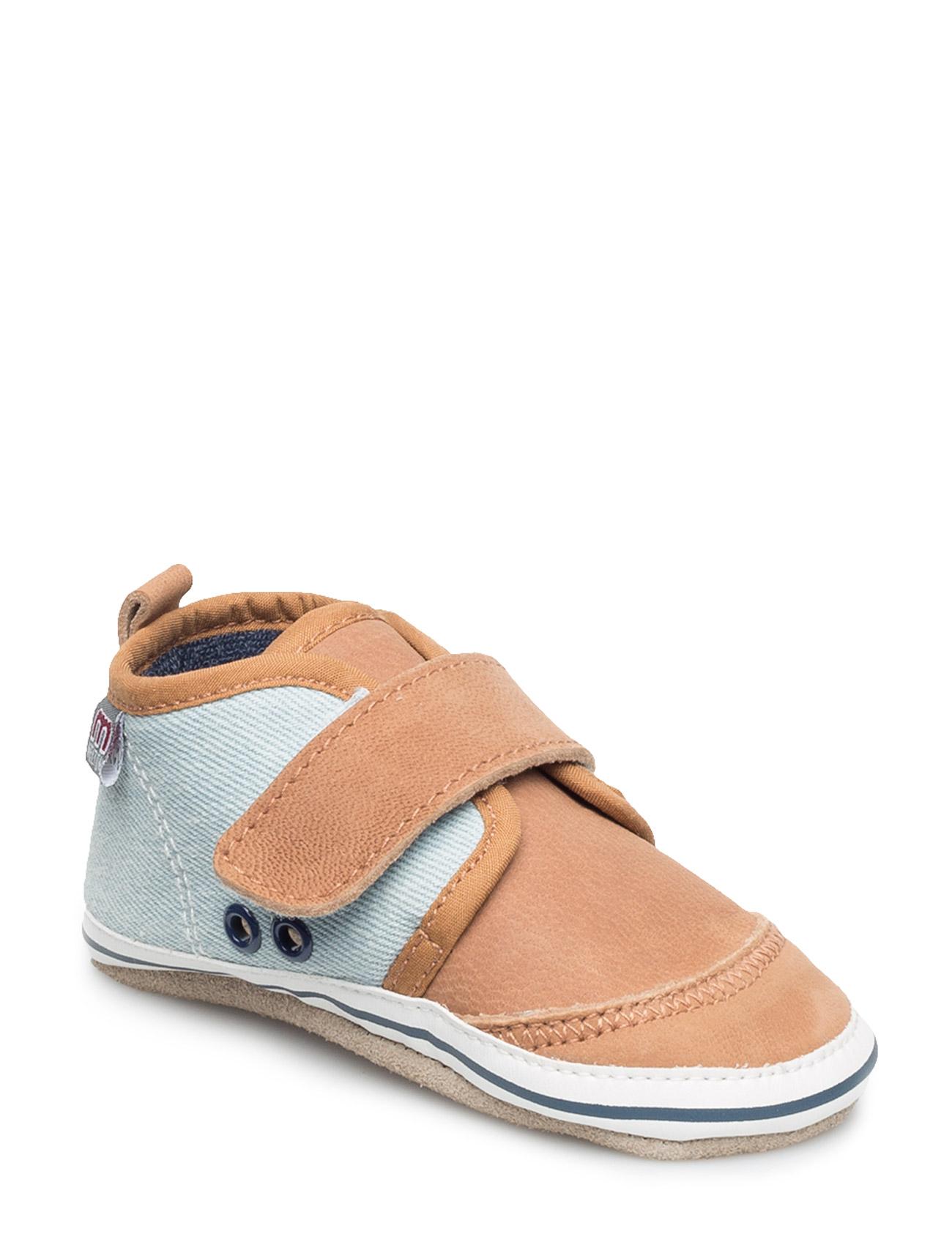 Leather/Textile Sneaker Boy Melton Slippers