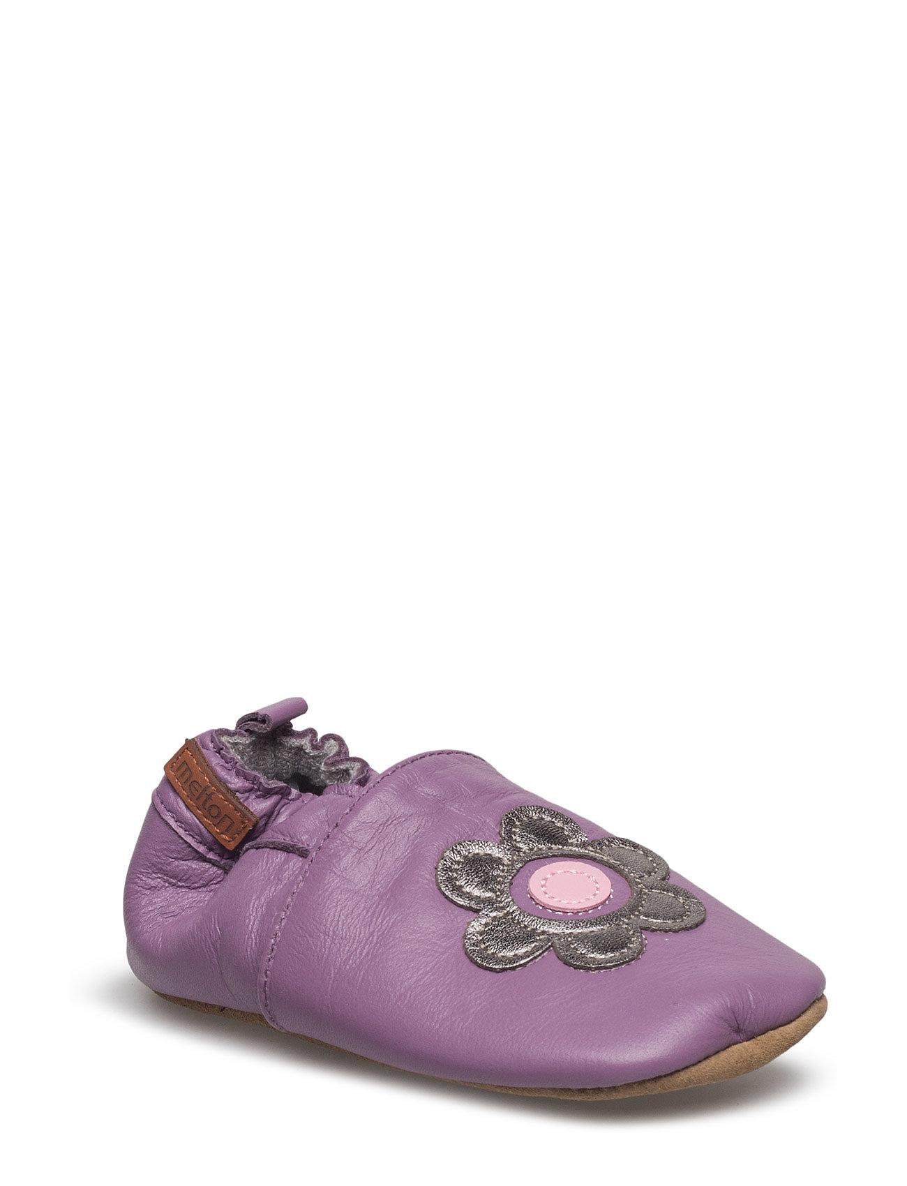 Leather Shoe - Flower Melton Hjemmesko til Børn i