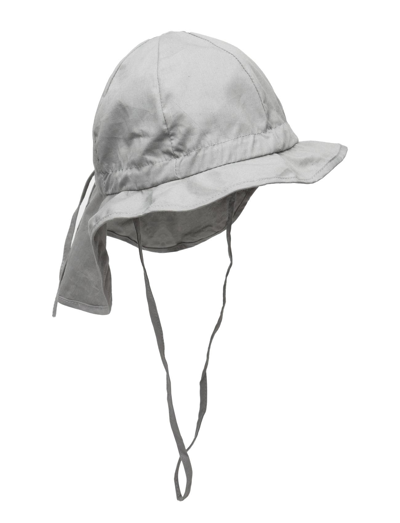 Hat W/Neck & Bow, Solid Col Melton Accessories til Børn i