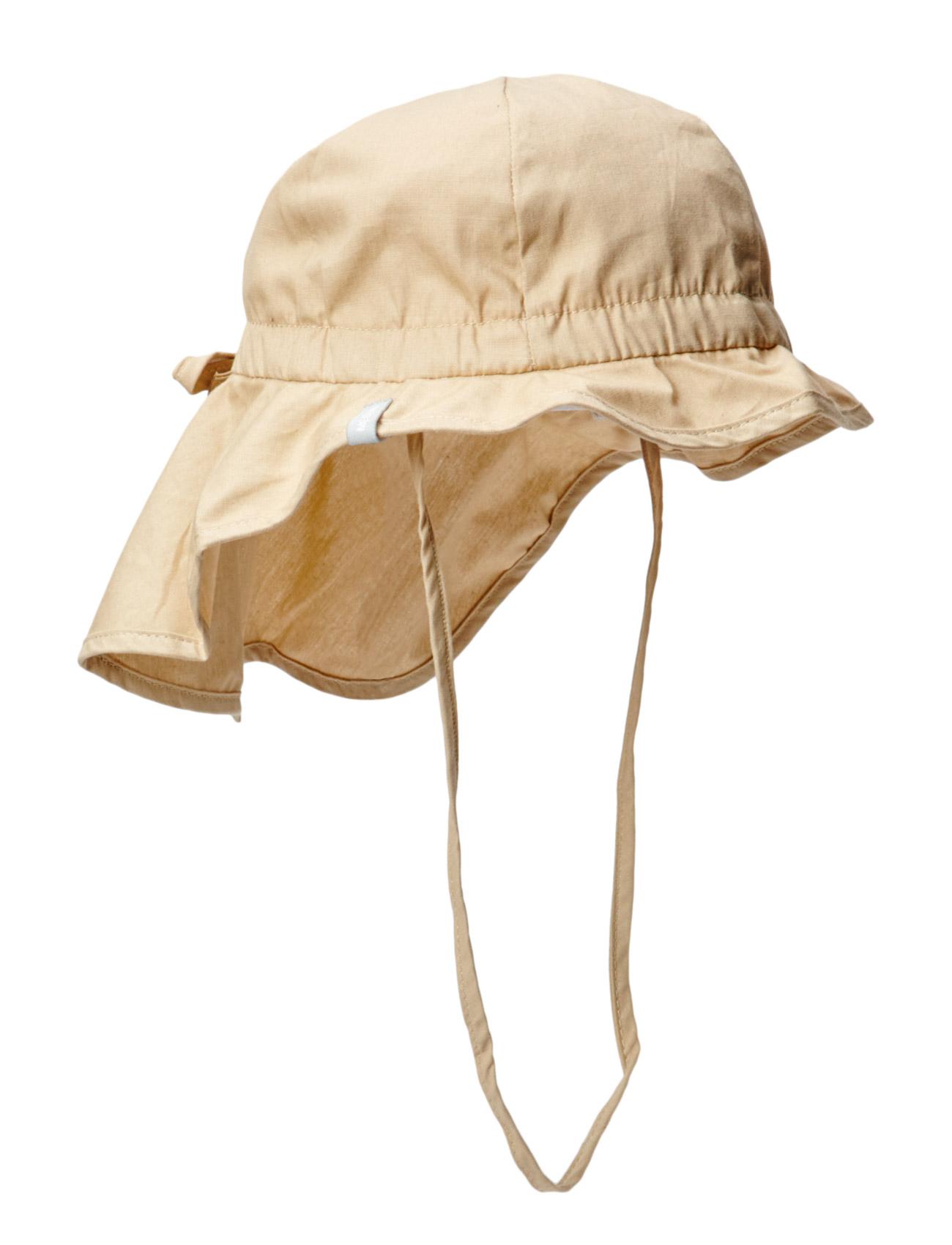Hat W/Neck & Bow, Solid Col Melton Hatte & Caps til Børn i