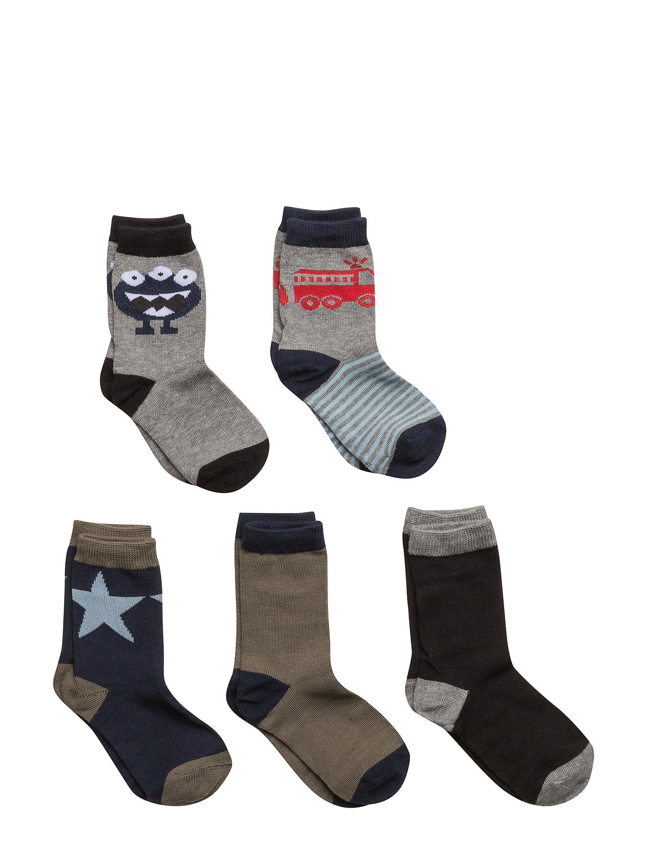 Numbers 5-Pack Socks - Boys