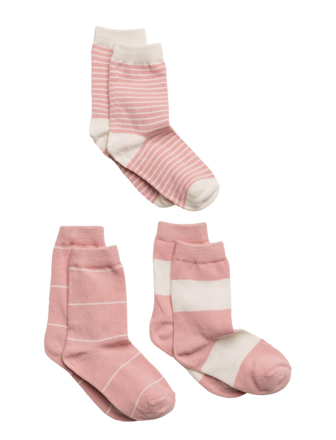 Numbers 3-Pack Socks - Stripes Melton Nat & Undertøj til Piger i