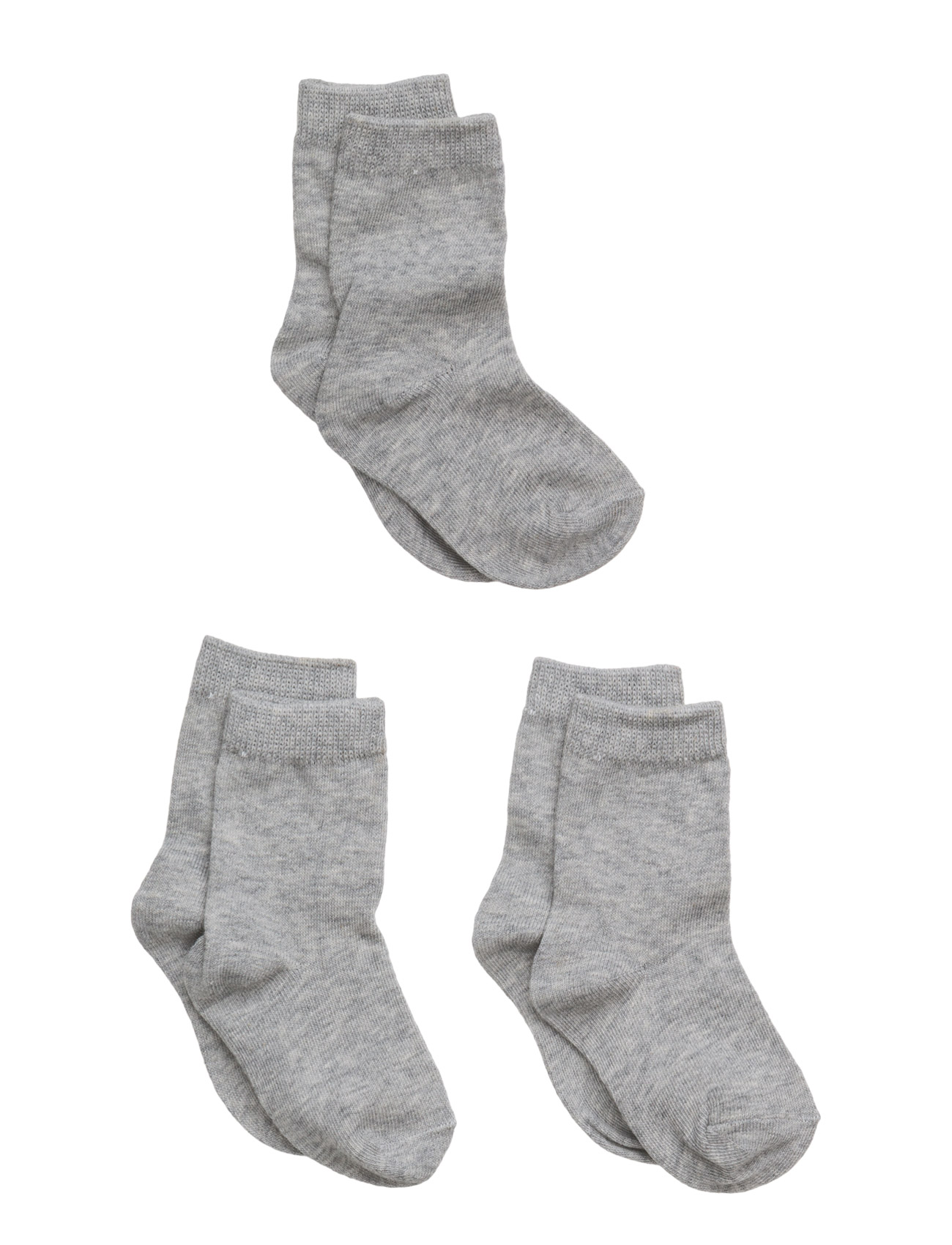 Numbers 3-Pack Socks - Single Col Melton Nat & Undertøj til Børn i
