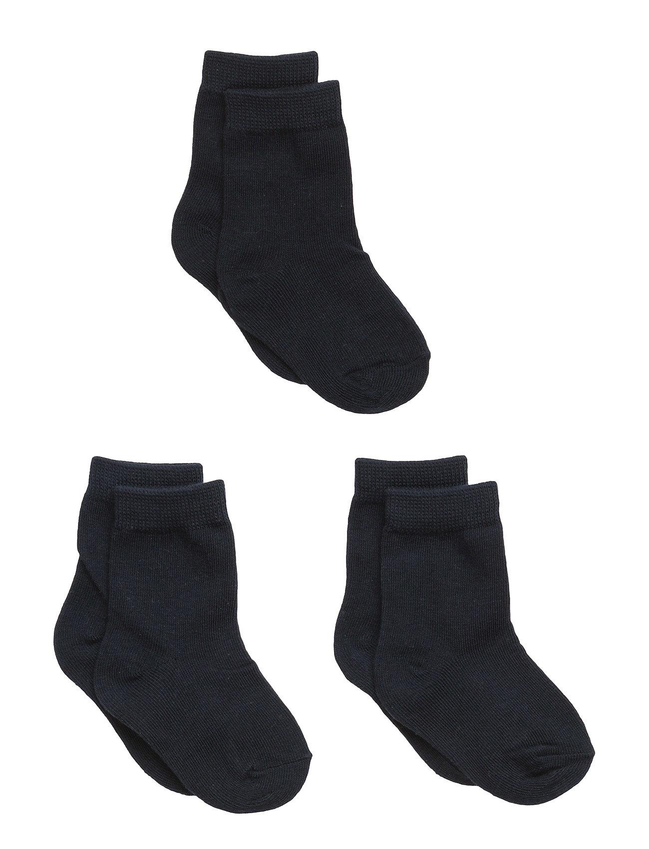 Numbers 3-Pack Socks - Single Col Melton Nat & Undertøj til Børn i