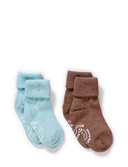 2-pack Baby Melange Socks - Blue