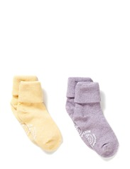 2-pack Baby Melange Socks - Light purple melange