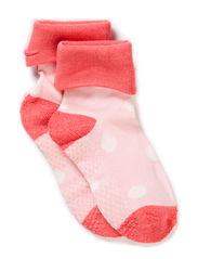 Baby Sock, Bamboo, Spots - Sugar Coral