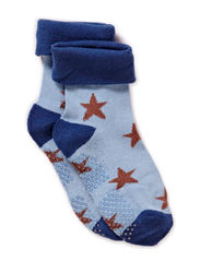 Baby Sock, Bamboo, Stars - Royal marine