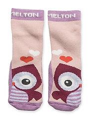 ABS Sock Terrycotton - Owl - 713/VERYGRAPE