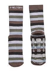 ABS Sock Terrycotton - Wide Stripe - 473/MINK